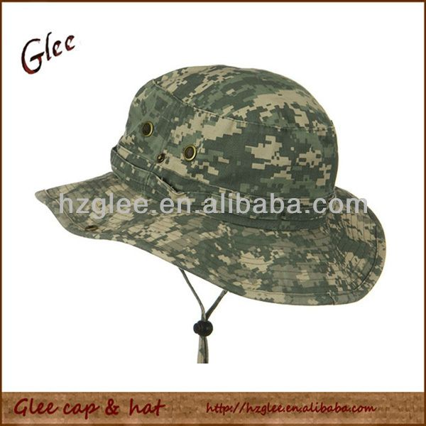 Fisherman camo bucket hat with string $1.2~$3.2