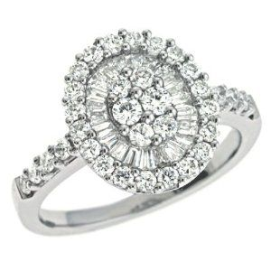 14K White Gold 0.99cttw Round Diamond Fashion Ring Jewelry Pot. $2310.99. 30 Day Money Back Guarantee. All Genuine Diamonds, Gemstones, Materials, and Precious Metals. Your item will be shipped the same or next weekday!. Fabulous Promotions and Discounts!. 100% Satisfaction Guarantee. Questions? Call 866-923-4446
