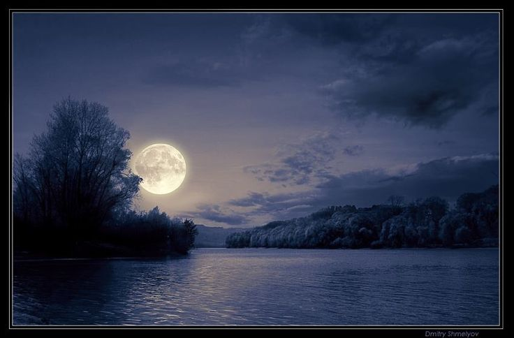 Tranquil moon reflections