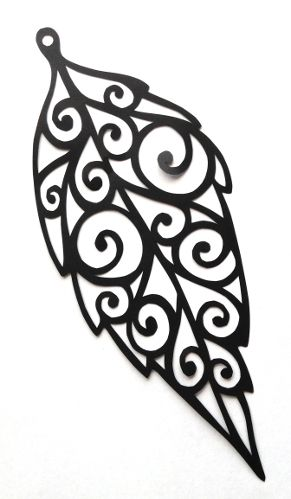 cut paper design Leaf Spiral Earring Design... something like this with fall color stains?!