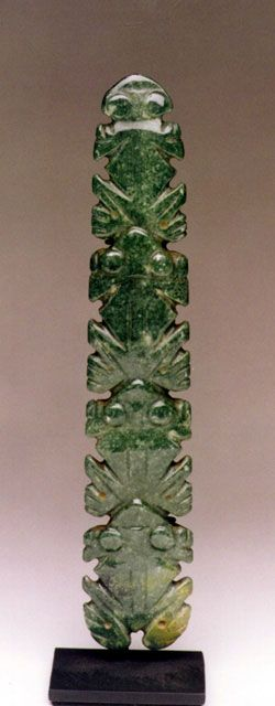 Jade Pendant (Four Frogs ) Origin: Pre-Columbian, circa: 100 AD to 500 AD. Eastern Costa Rica PF.3136