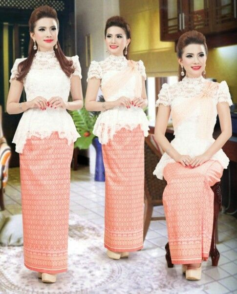Khmer Traditional Clothes, Love The White Top Shirt