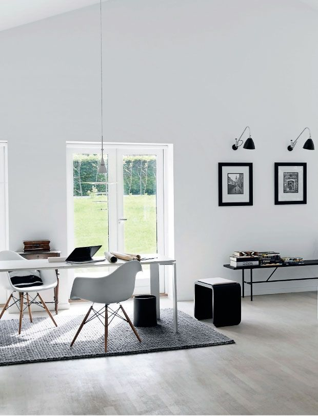Black forest home with modern minimal interior