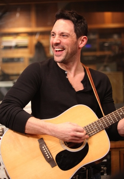 A handsome man (Steve Kazee) and an acoustic guitar. This always makes me smile!