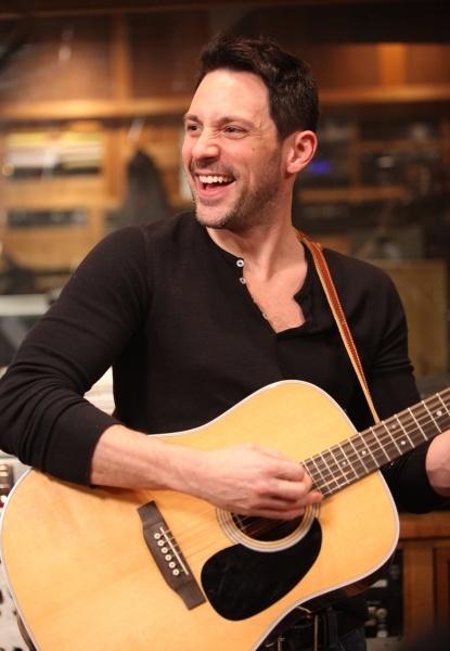 A handsome man (Steve Kazee) and an acoustic guitar.