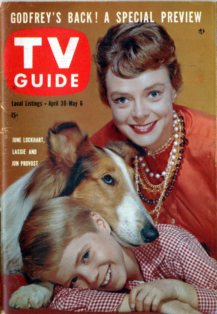 "June Lockhart, Lassie, Jon Provost of ""Lassie"" April 30-May 6, 1960"