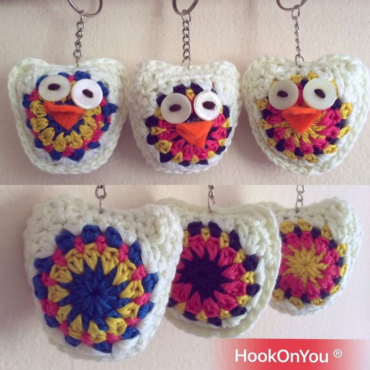 Spring is here 🌺 and these are three happy 😄 🦉owls! For order/purchase contact me 😉 #handmade #hookonyou #crochetowls #mandala
