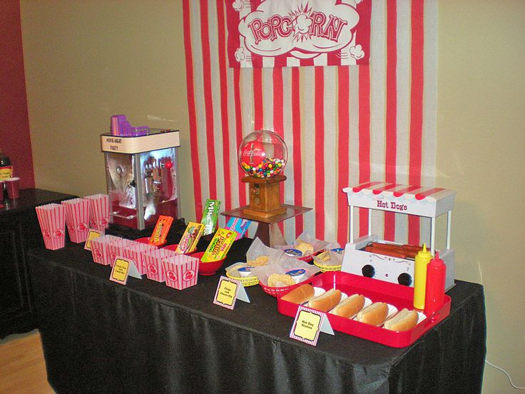 Movie night party - concession stand