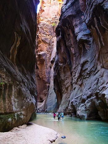 {3 Must-Have Books for Creating a Family Travel Plan} *Shot of hiking up The Narrows. So cool.