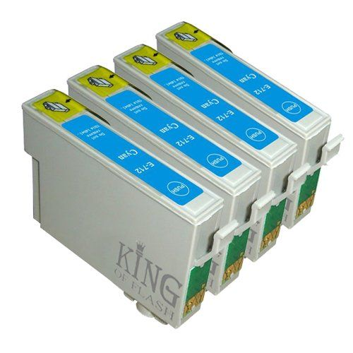 From 3.50 King Of Flash Brand New 4 Cyan Compatible Printer Ink Cartridges For Epson T0712 - Epson Stylus D78 D92 D120 Dx4000 Dx4050 Dx4400 Dx4450 Dx5000 Dx5050 Dx6050 Dx7000f Dx7400. Dx7450 Dx8400 Dx8450 Dx9400 Dx9400f S20 S21 Sx100 Sx110 Sz105 Sx115 Sx200 Sx205 Sx209 Sx210 Sx215 Sx218 Sx400 Sx405 Sx405wifi Sx410 Sx415 Sx510w Sx515w Sx600fw Sx610fwbx310fbx3450f Bx600fw Bx610fwb40w