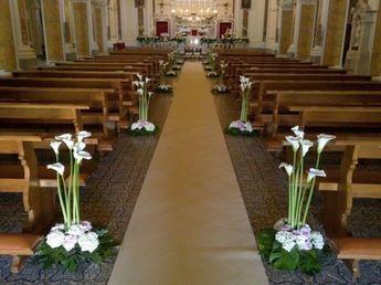 Esempio di addobbi per matrimonio in chiesa