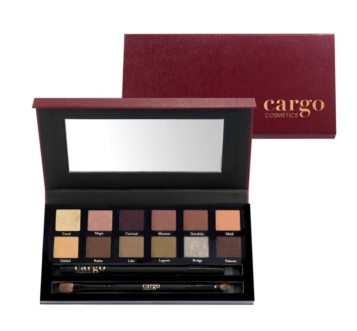 Part of Cargo Cosmetics Holiday 2015 Collection is The 'Venice Enchantment Eye Shadow Palette' ~ The palette is has 12 wearable shades, 1 Eye Pencil in Black and 1 Dual Ended Brush.
