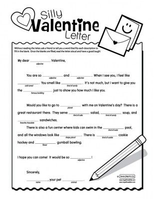 Valentine's Day - Mad Libs Classes de mots: faire choisir une banque avant et placer dans le texte! Jeu drôle