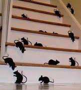 Rats?Rats Silhouettes, Holiday Halloween, Cricut Haunted House, Rats Stairs, Holidays Halloween, House Silhouettes, Fall Halloween, Paper Rats, Creepy Ideas Not