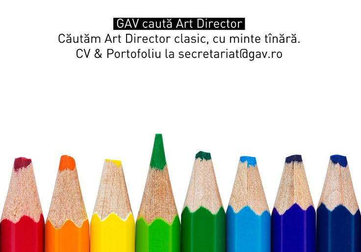 We are looking for a classic, young at heart art director ! Interested? Send your resume and portofolio at: secretariat@gav.ro.