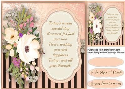 lovely Anniversary Wishes on Craftsuprint - Add To Basket!