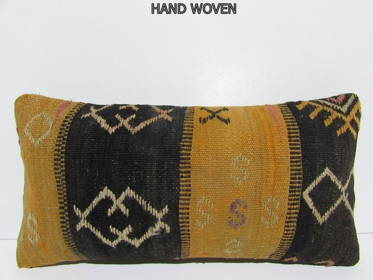 black lumbar pillow orange pillow case knitted cushion cover oversize pillow decorative pillow set ethnic lumbar sham kilim pillow sham F217 by DECOLICKILIMPILLOWS on Etsy https://www.etsy.com/listing/231996097/black-lumbar-pillow-orange-pillow-case