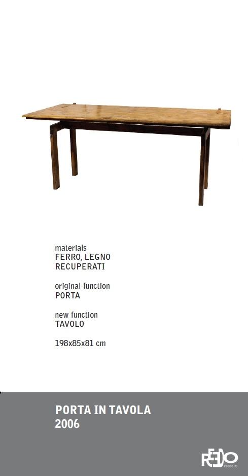 Porta in tavola, 2006  Fethi Atakol reuse desgin    Price and info: reedo@reedo.it