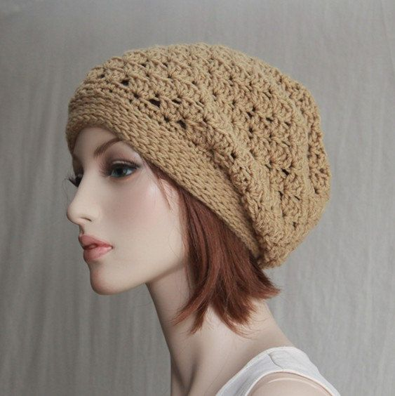 Crochet  Slouchy Hat Boho Chic Womens Teen by endlesscreation