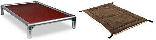 Aus der Kategorie Betten  gibt es, zum Preis von   KURANDA Hundebett - XXL Aluminium/ Burgundy Cordura + Wendbares Vlies-Polster Smoke