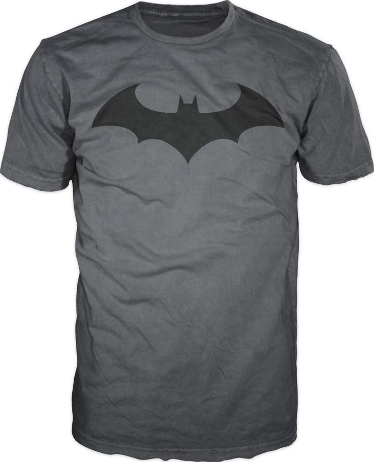 DC Comics Batman Fly Hush Bat Logo Men's T-Shirt - Grey / Black #Batman #GraphicTee