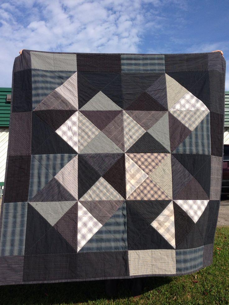 Quilt for A's wedding. Using Mod Blocks pattern by Johanna Masko and Japanese cotton dobby fabrics.