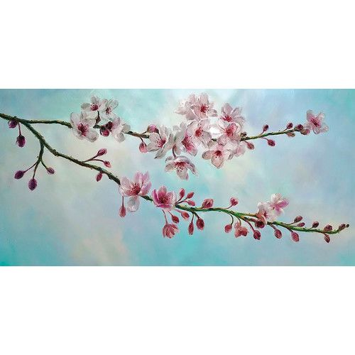 The 25 best cherry blossom painting ideas on pinterest for Canvas painting of cherry blossoms