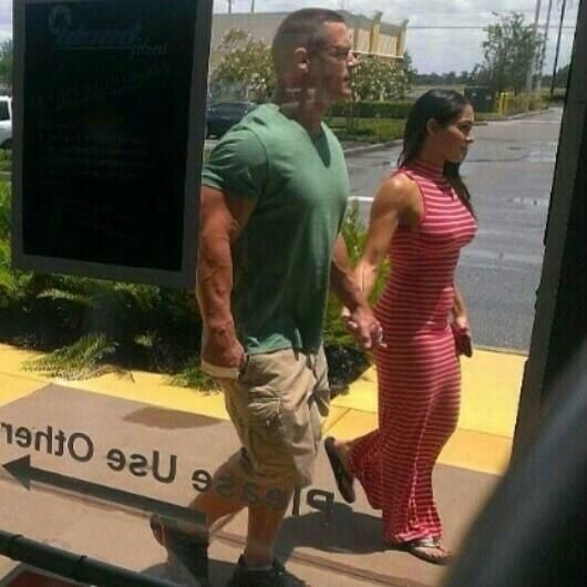 John Cena and Nikki Bella | New Photo Of John Cena and Nikki Bella Out Together For E!'s ...