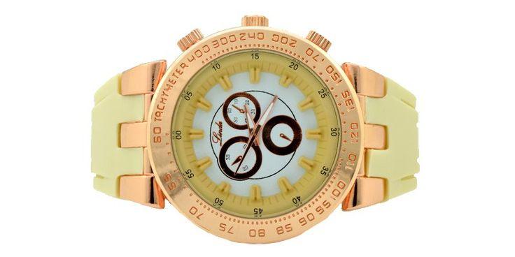 Γυναικείο ρολόι κρεμ 028