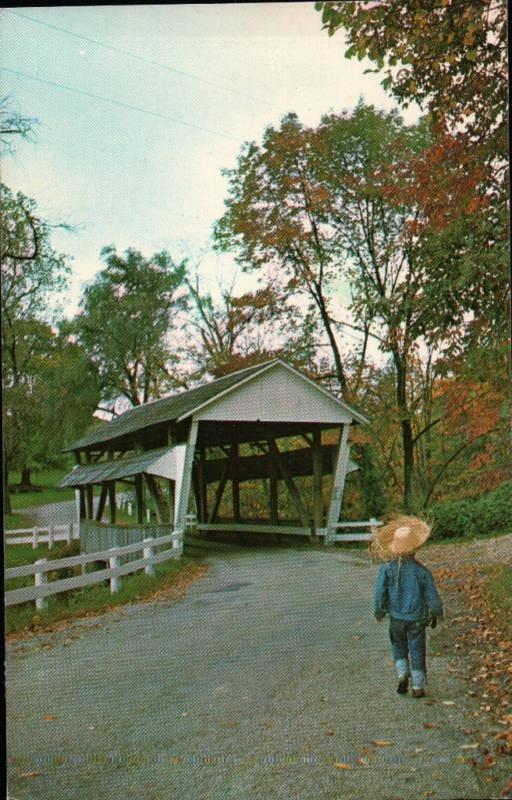 Rock Mill Covered Bridge Near Lancaster Ohio