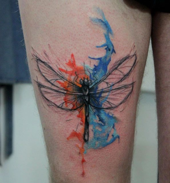 25+ Best Watercolor Dragonfly Tattoo Ideas On Pinterest