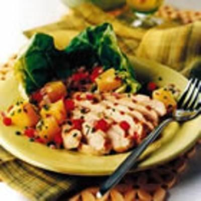 Caribbean Chicken Grill with Pineapple Salad