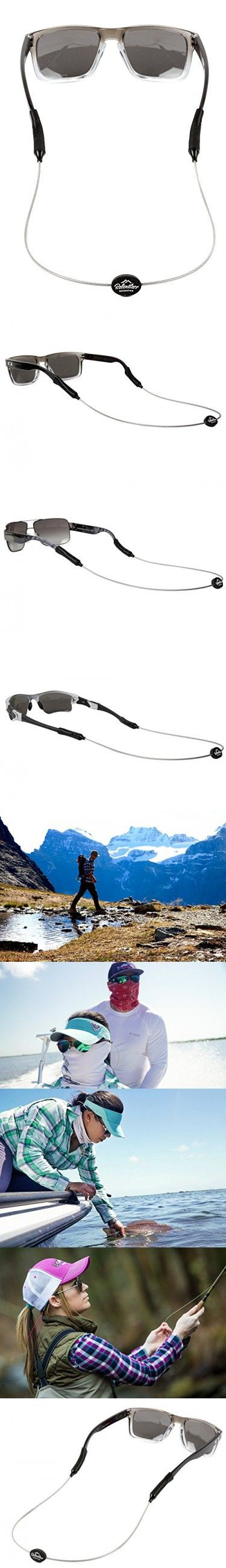 Rec-Strapz Sunglasses / Eyewear Retainer System for Active Lifestyles - Made in USA - Patent Pending Design  Universal fit for any Eye Glasses / Sunglasses - Silver Standard