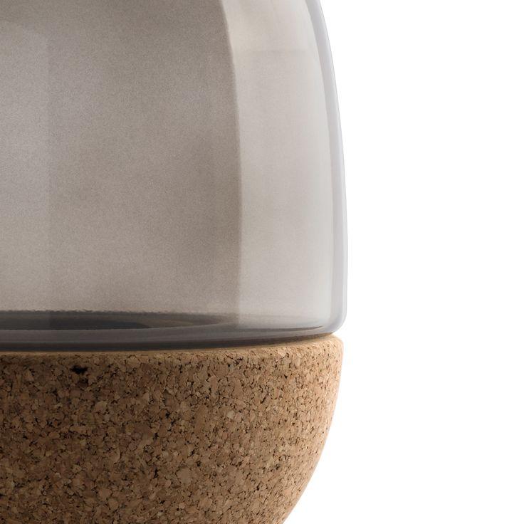 Pitaro vase in smoked glass