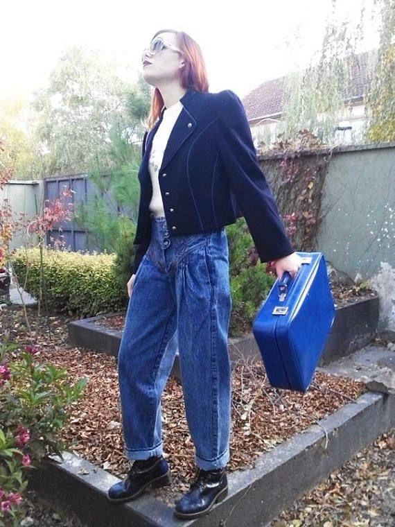 Vintage 80s Acid Washed Jeans / High Waisted Jeans / Mom Jeans