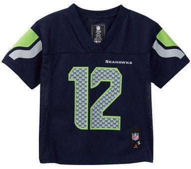 NFL Logos Seattle Seahawks Fan Jersey (Little Boys)
