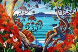 Rangitoto Island View (framed only) Due June