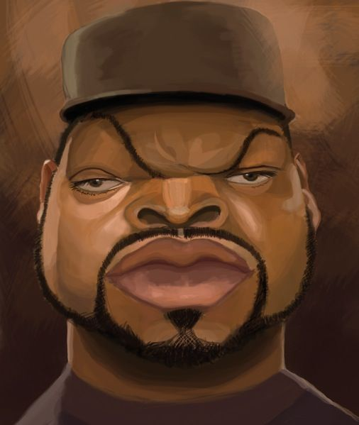 Ice Cube #Caricature #FunnyFaces
