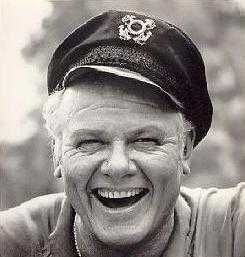 """Alan Hale Jr.- AKA """"Skipper"""" on Gilligan's Island. Fought in WWII. Considered by many to be one of the nicest men they had ever know. RIP"""