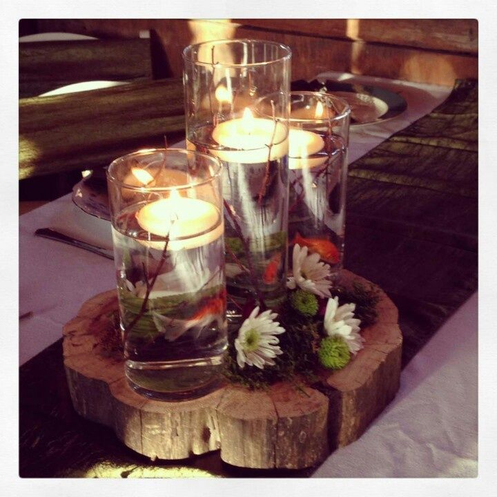 Wedding Goldfish Centerpieces | Goldfish in the centerpiece! | wedding ideas