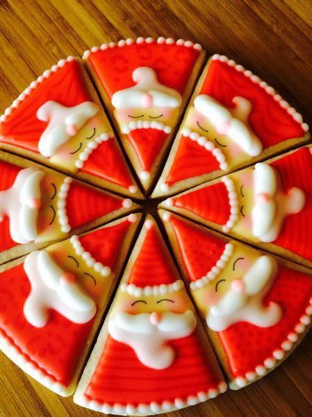 Santa Christmas Pizza Cookie // Heidijo
