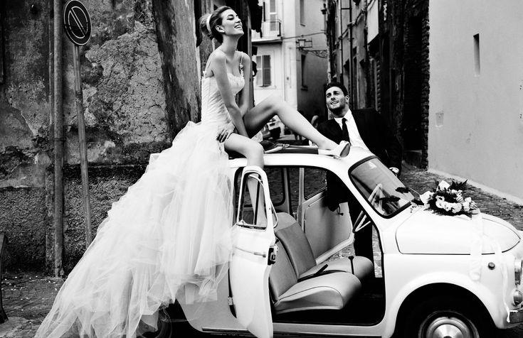 Vintage Pictures Of Italy   Vintage-bride-wedding-hair-makeup-inspiration-black-white-italian ...