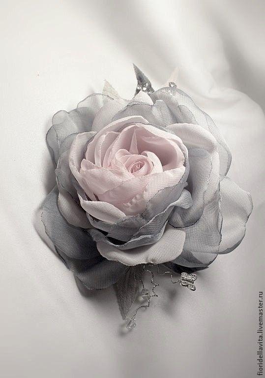 Rose made of fabric