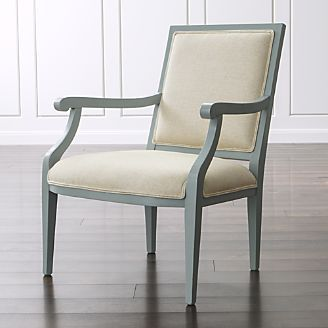 Cherise Spa Chair, borrows its overall form from the Louis XIV chair with the giveaway being the scroll armrests.