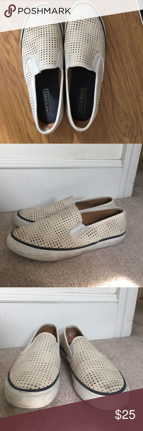 Sperry slip on Sneaker Cute and comfortable off white sperry slip on sneakers Sperry Top-Sider Shoes Sneakers