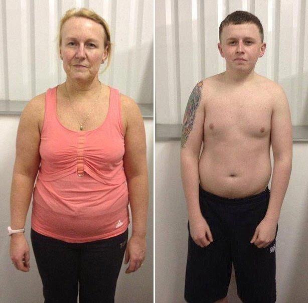 Невероятное преображение матери и сына, после отказа от вредных продуктов и занятий спортом - http://russiatoday.eu/neveroyatnoe-preobrazhenie-materi-i-syna-posle-otkaza-ot-vrednyh-produktov-i-zanyatij-sportom/ 48-летняя Анджела МакМанус (Angela McManus) и её 20-летний сын Брэдли, отъели себе бока и круглые лица, благодаря с�
