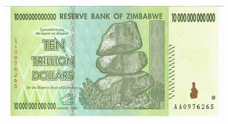 Zimbabwe, 10 Trillion Dollars 2008