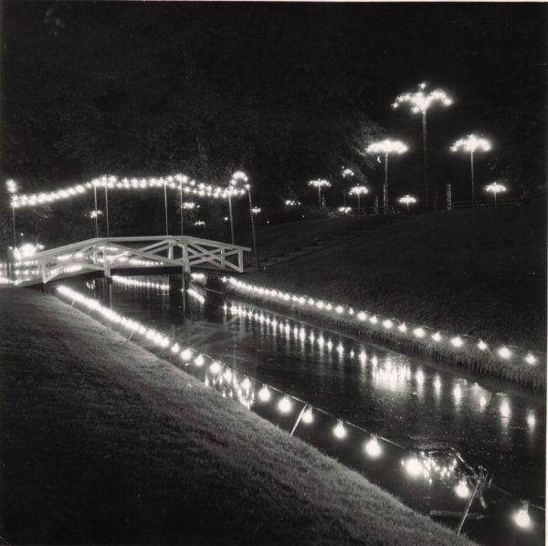 Illumination af Borgvold ved Viborg-dagene i 1938.