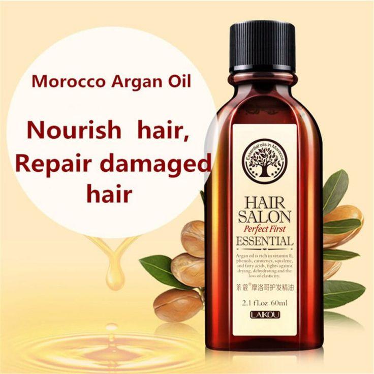 Multi-functional Hair Care Moroccan Pure Argan Oil Hair Essential Oil For Dry Hair Types Hair 60ml [Affiliate]