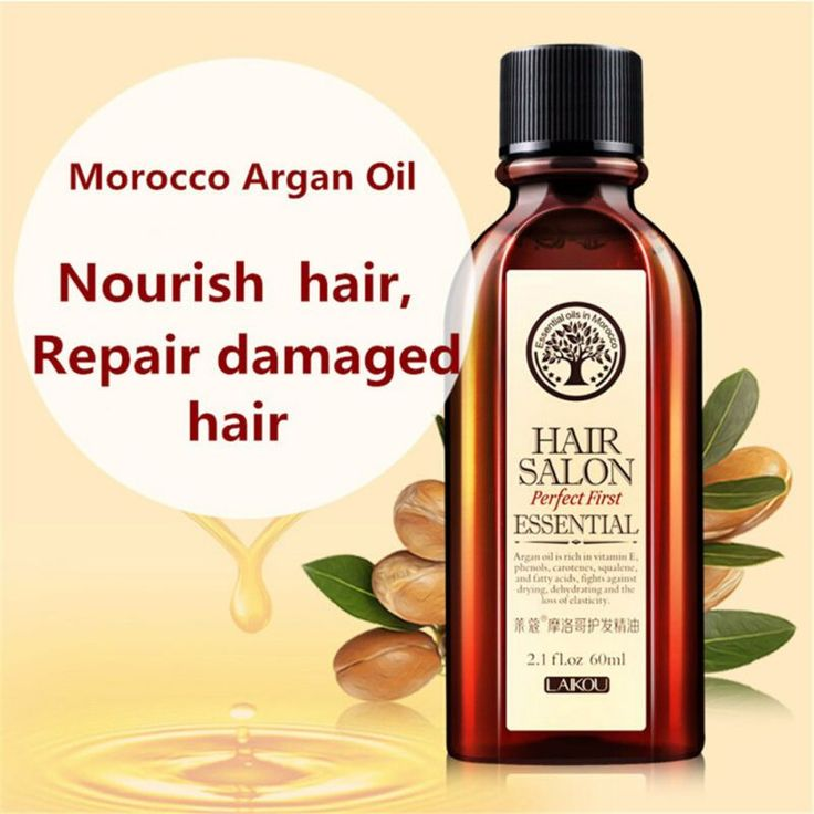 Multi-functional Hair Care Moroccan Pure Argan Oil Hair Essential Oil For Dry Hair Types Hair 60ml * Details can be found by clicking on the image.